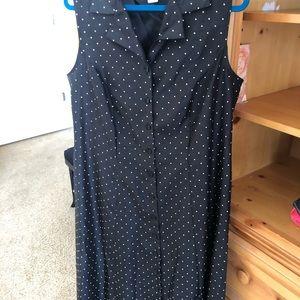 Dress BLK WHT Poka dots
